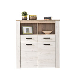 ΒΙΤΡΙΝΑ KENT POP 2F GREY OAK/WHITE OAK